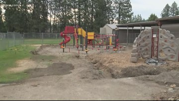 Group of principals builds new Adams Elementary playground in 4 hours