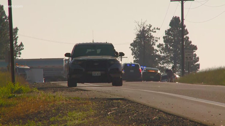 SR 290 reopens after fatal head-on crash between car and semi truck in Spokane Valley