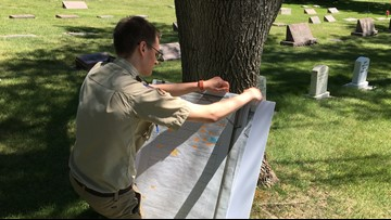 Moscow Boy Scout works to identify every veteran's grave in cemetery