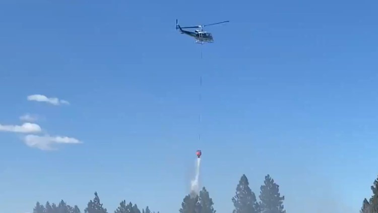 SR 27 near Valleyford reopens after fire burns at least 15-acres