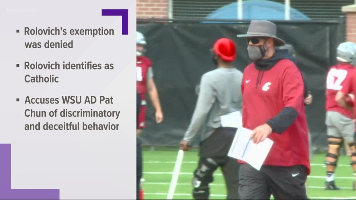 Rolovich sues WSU and Few pleads guilty to DUI charge