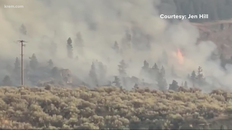 SR 155 near Grand Coulee likely closed until Saturday due to fire
