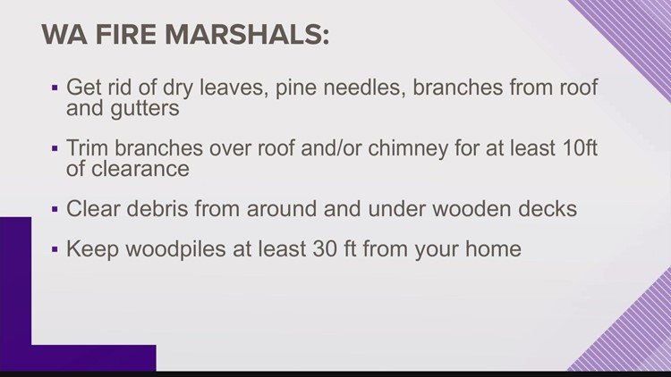 Washington fire marshals share tips to stay safe this fall