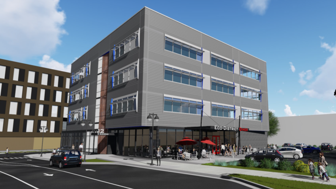 Construction continues on Spokane's largest energy saving building