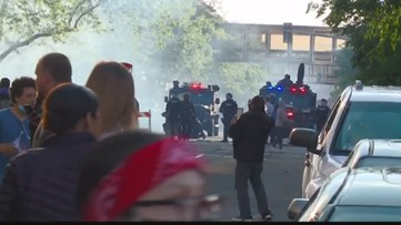 Man who lit molotov cocktail arrested at Spokane protests, along with 15 others