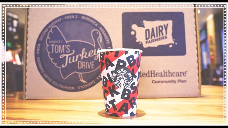 Support Tom's Turkey Drive at Starbucks Friday, Nov. 20