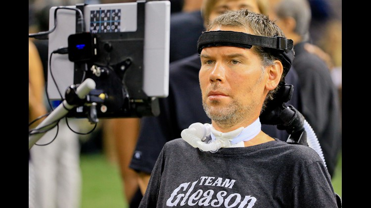 Steve Gleason at Saints game