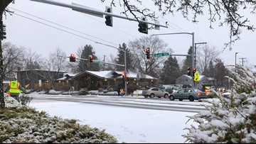 Crashes reported across Inland Northwest after more snow falls into Tuesday morning