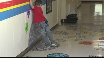 'It gets some of those wiggles out': Sensory pathway helps Spokane elementary students focus