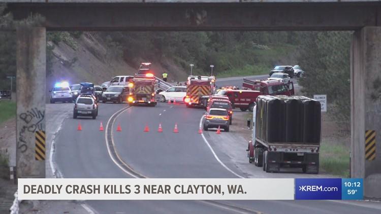 Head-on collision with firetruck kills three people