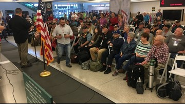 First Honor Flight of 2018 takes off Monday morning