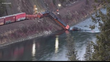 How common are train derailments in Boundary County?