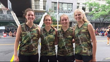 """Freeman students compete in Hoopfest as """"The Survivors"""""""
