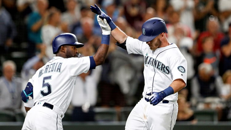 Chris Herrmann hit his first home run for Seattle and Marco Gonzales pitched six solid innings to lead the Mariners to a 4-1 victory over the Los Angeles Angels on Thursday night.