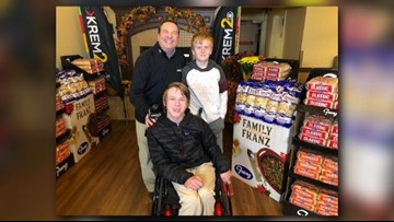 Two Cheney boys donate 80 dinners to Tom's Turkey Drive in nine years