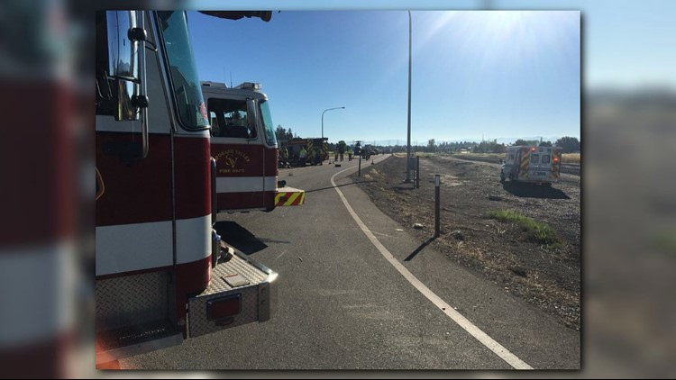 Highway 290 at McKinzie Road is closed approximately one mile east of Harvard Road in Otis Orchards.