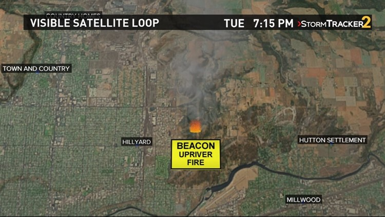 Spokane Wildfire Map.Level 1 And 2 Evacuation Notices Issued For Spokane Valley Krem Com