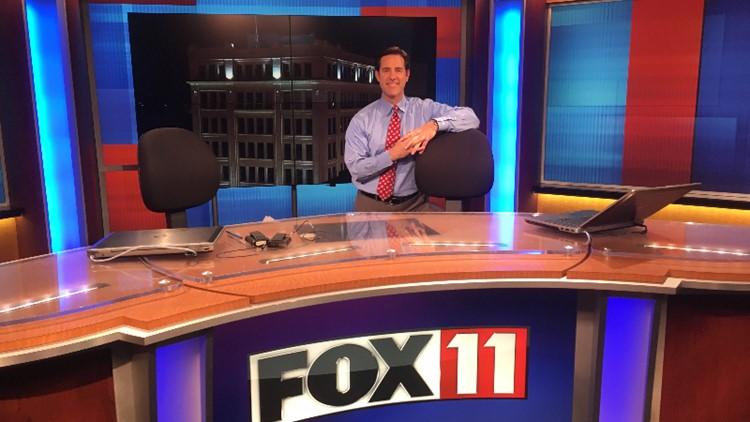 Mike Murad FOX 11 set