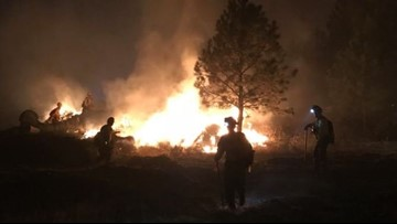 Angel Springs Fire burning near Davenport damages 14 buildings