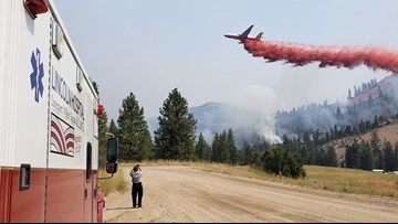 Level 2 and 3 evacuations still issued for Angel Springs Fire burning near Reardan