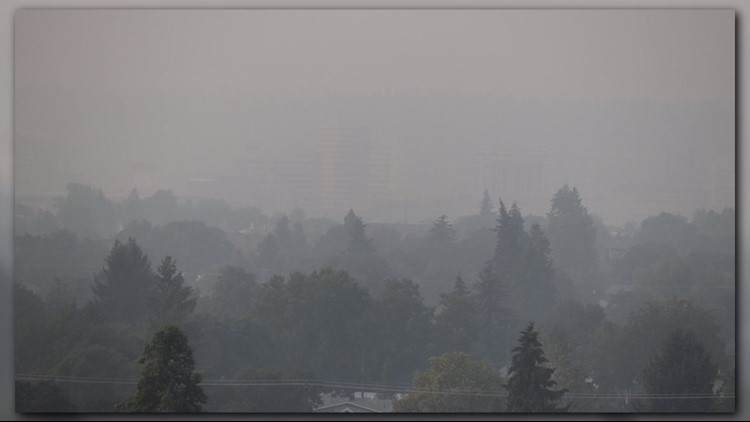 The air quality around Spokane quickly degraded as smoke from surrounding wildfires blanketed the region. The air quality is now unhealthy for everyone.