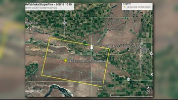 Level 1 evacuation notice canceled for Wahluke Slope Fire in Grant Co.