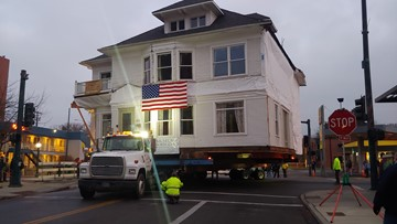 Historic North Idaho house takes a ride to new home