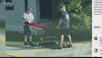 Story of three Hayden boys taking down U.S. flag goes viral across the country