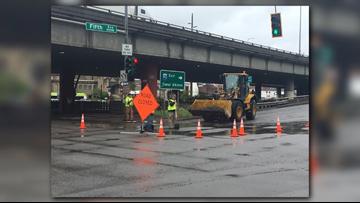 Ignoring road blocks in Spokane can result in $1K fines