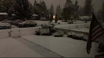 Your photos and videos of snow, downed trees after rare October storm