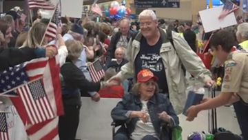 Another group of veterans delighted by Honor Flight