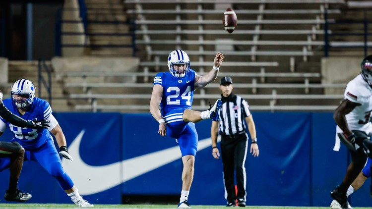 Central Valley's Rehkow breaks BYU punt yardage record