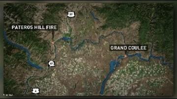 Pateros Hill Fire burns 70 acres in Okanogan County