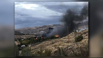 Four mobile homes lost in Elmer City fire