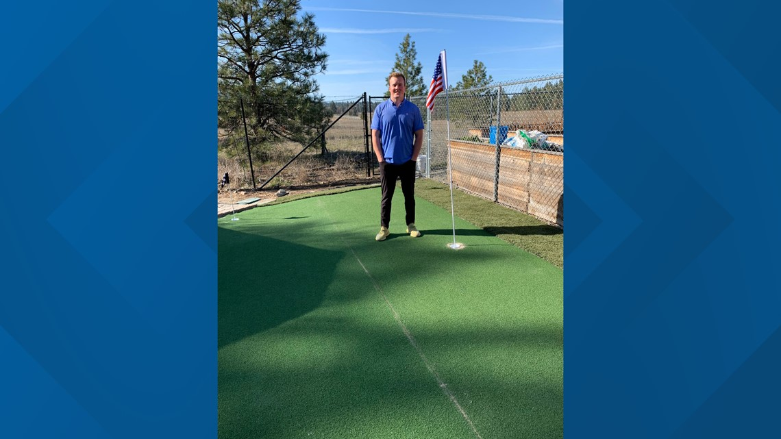 The putting pro: Spokane's Evan Weaver gets creative during quarantine