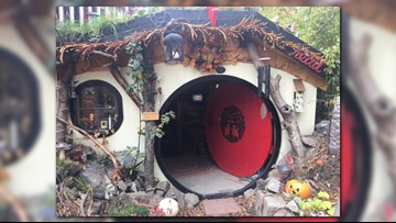 Here's when you can see a Halloween light show at Spokane's 'Hobbit House'