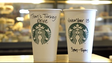 Tom's Turkey Drive at Starbucks 2018
