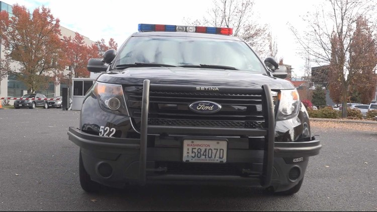 River Park Square security guard injured after running into Spokane police car