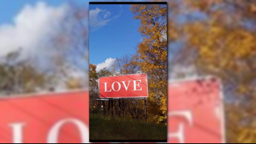 Spokane man spreads love through billboards, including one in Pittsburgh