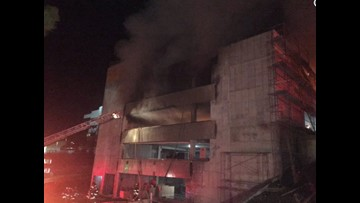 Parking structure fire near Sacred Heart caused significant damage