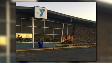 Woman drove into South Hill YMCA on Monday morning, employee says