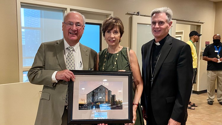 'They have a home, it's here': Spokane's Catholic Charities unveils 50-unit housing complex for those facing homelessness
