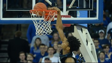 Norvell's 28 points rallies No. 1 Zags past Creighton 103-92