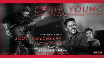 Country stars Chris Young, Scotty McCreery performing at Spokane Arena in May