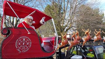 Santa visits Spokane neighborhoods starting Tuesday