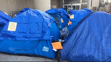 Homeless campers at Spokane City Hall given notice to leave