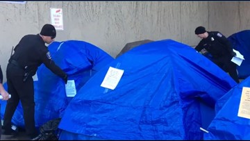 At least 20 people appeal Spokane city hall homeless eviction notice
