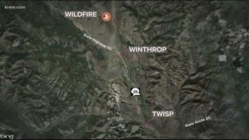 60-acre Rendezvous Fire in Okanogan Co. forces Level 1 evacuation notices
