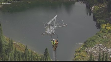 Schweitzer Mt. uses helicopter to install new lifts