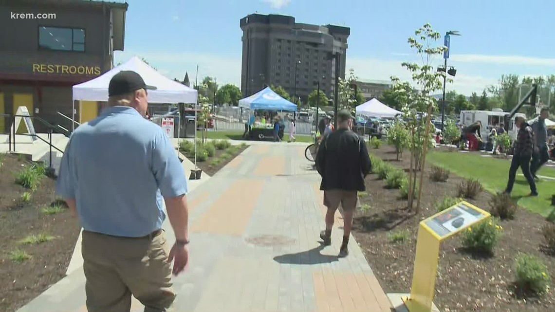Riverfront Park's North Bank, part of $75M downtown Spokane revitalization project opens